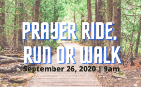 Youth Ministry Prayer Ride, Run or Walk