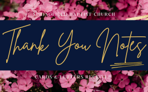 Thank You Notices - September 2021
